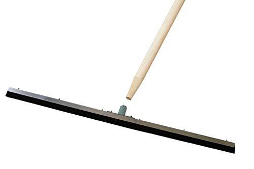 Wasserschieber Metall U-PROFIL - extra stabil - INKLUSIVE Stiel (1 Stück, 100 cm)