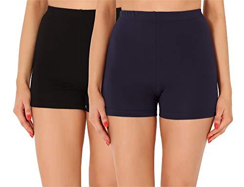 Merry Style Dames Shorts Fietsbroek Onderbroek Hotpants van Katoen 2Pack MS10-358