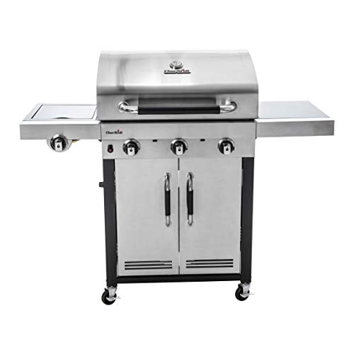Char-Broil Advantage Series™ 345S - Barbecue in acciaio inox a 3 bruciatori con bruciatore laterale.