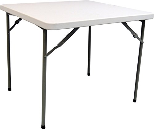 Harbour Housewares 2ft 10in Trestle Table, Square - Easy to Store, Suitable for Indoor & Outdoor Use