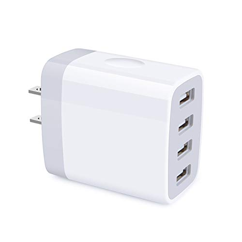 iPhone 12 Charger Box Fast Charging 4.8A Multi Port USB Charger Wall Plug Power Adapter Charging Block Cube Brick Compatible iPhone SE/12/11 Pro Max, Samsung Galaxy S21 Utra 5G S20 S10 S9 S8 Note20 10