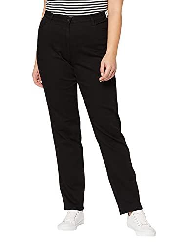 BRAX BRAX Damen BX_Carola Straight Leg Jeans, Schwarz (Clean Black Black 2), W29/L34 (Herstellergröße: 38L)