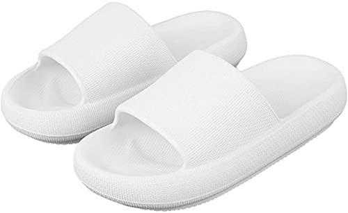 XNDD Cozislides Original,Massage Shower Bathroom Slipper, Non-Slip Quick Drying Open Toe Super Soft Thick Sole Sandals for Women and Men (36-37,White)