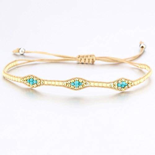 GAOKANG Multi color hecho a mano de piedra tejida pulseras de la amistad Macrame pulsera tobillera pulsera regalo de la amistad