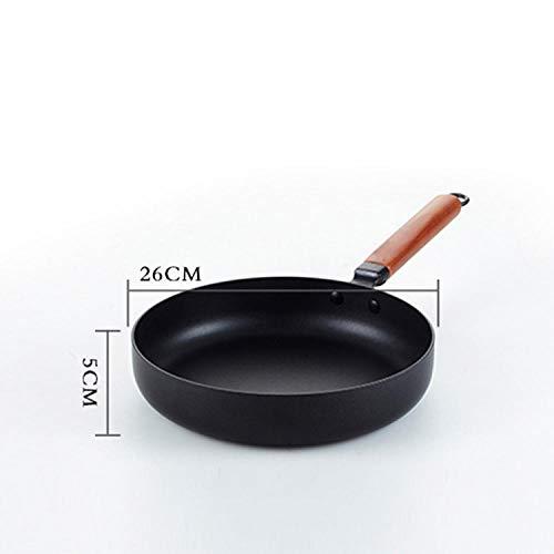 Wok Koekenpan 26CM Hoge Kwaliteit Hot Koop Nieuwe Mode Koekenpan Anti-aanbak Gietijzeren Skillet Multi-Functie Gietijzer Koken Pan Koken Niet-aanbakplaat 26cm