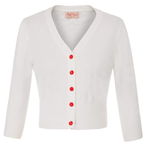 Belle Poque Vestido Bordado Vintage Elegante para Mujer Abrigo Superior Marfil (928-2)...
