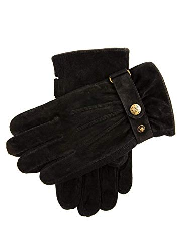 Dents Mens Chester Suede Side Knit Walking Gloves
