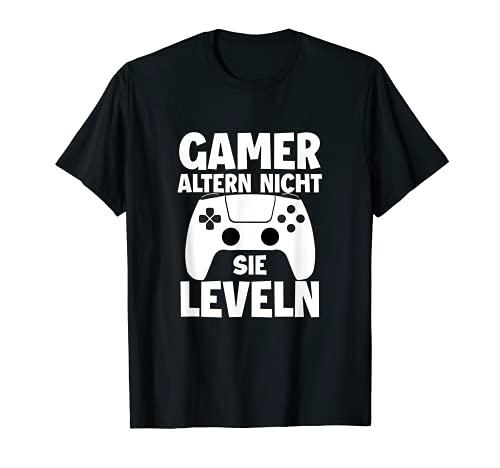 Los jugadores no envejecen, no leveln videojuegos. Camiseta