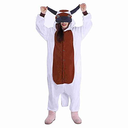 WEIYIing Avatar The Last Airbender appa Cosplay Disfraz Mono Pijamas Vaca Onesie Pijamas Animal Sudadera con Capucha Traje de Dormir-Vaca de una Pieza_Metro