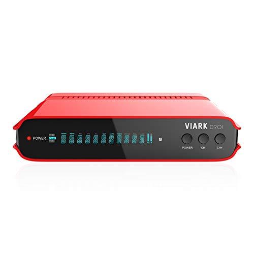 VIARK DROI 4K 2160p H.265 HEVC digitaler Combo Android 7.0 Satelliten & DVB-C/T2 Receiver 300Mbit WiFi (2.0 GHz, 8GB Flash, 2GB DDR4, IPTV, Apps, DVB-S2, DVB-C/T2 HDMI, LAN, USB 2.0, UHD) Rot/Schwarz