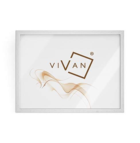 Vivan Riquadro Cornice, Legno, Bianco Opaco, Formato Immagine 50x70