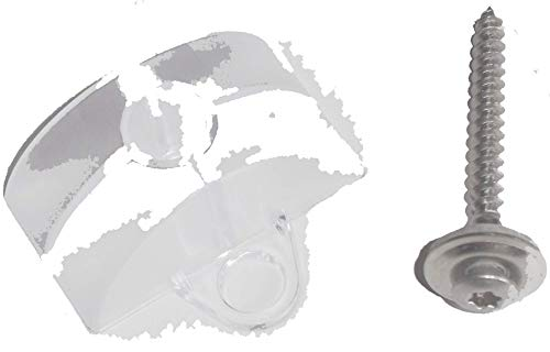 100 Abstandhalter 18 76 für Sinus Profil Wellplatten mit Spenglerschrauben aus V2A 4,5 x 45 mm Tx Dichtscheiben 15 mm