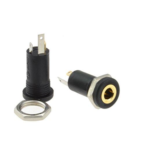 3,5 mm AUX Stereo Buchse Eingabe Panel Montage Audio Löten Adapter [2 Stück]