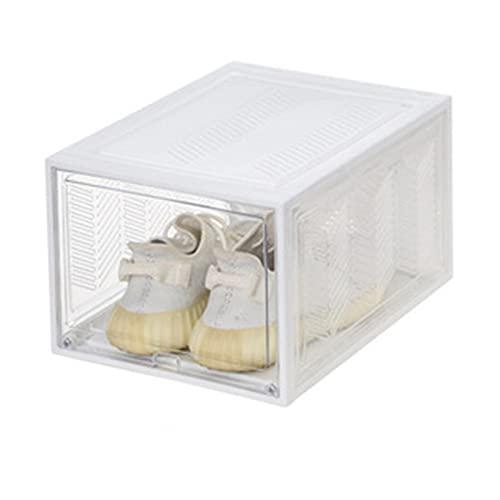 Caja de zapatos de plástico apilable Cajas de zapatos de plástico Contenedores de entrenador apilables Gabinete de almacenamiento de zapatos Clear Plastic Sneaker Mostrar el armario de zapatillas