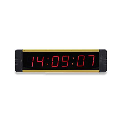 Temporizador Intervalo LED Temporizador de recuento Temporizador de entrenamiento Gimnasio Boxeo Cronómetro Led Reloj de pared for gimnasio con control remoto Azul Adecuado para una variedad de ocasio