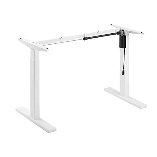 ApeJoy® elektrisch stufenlos höhenverstellbarer Schreibtisch, höhenverstellbares Tischgestell, Standing Desk mit Memory-Funkt, einstellbaren Kollisionsschutz und Soft-Start/Stop (Weiß)