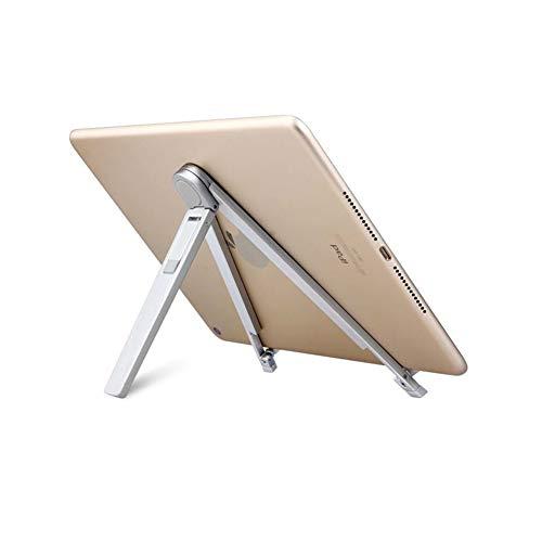 高度調整可能卓上 スマホ スタンド ホルダー タブレット スタンド 折り畳み式 ipad/iPhone/携帯 スタンド (Silver, One Size)
