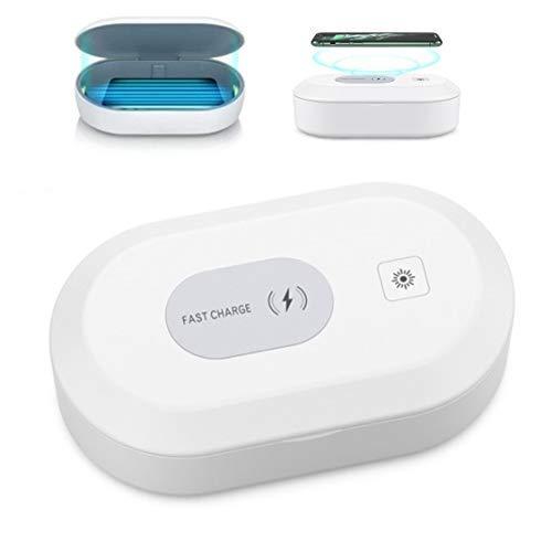 Esterilizador y Cargador Inalámbrico para Celulares, Luz UV Ozono, Carga Rápida, Desinfectante para múltiples objetos, Aromaterapia....
