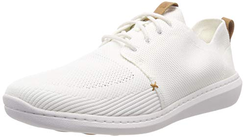 Clarks Herren Step Urban Mix Sneaker, Weiß (White), 44.5 EU