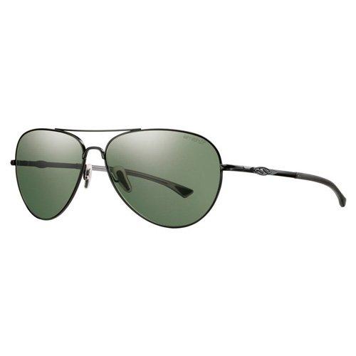 SMITH Audible PZ 003 60 Gafas de sol, Negro (Matte Black/Grey Green Lz), Hombre