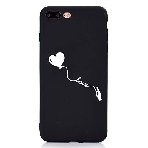 ZunYing Creativo Glitter Eye-Catching Custodia per iPhone 8 Plus iPhone 7 Plus,Thin Morbido Silicone Cover Cristallo limpido Trasparente Chiaro Cristallo[Ultra-Sottile] Slim TPU Sparkle Bling