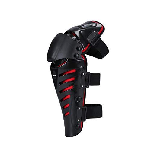 Yuanu Erwachsene Motorrad Knieprotektoren Flexibel Bequem Mountainbike Knieschützer Knieschoner für Outdoor Skating Motorrad Sport Schwarz&Rot One Size