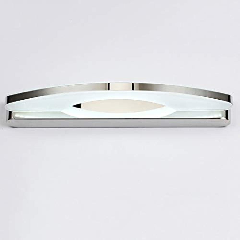 Ali LED Spiegel Frontlicht Mode Einfachen Badezimmer Edelstahl Anti-Fog Feuchtigkeit Make-Up Lampe Wandleuchten (Farbe  Weies licht-54 cm)