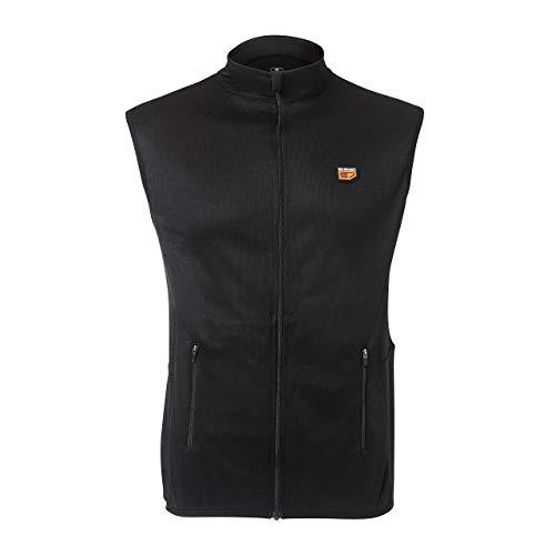 30seven Heizweste, beheizbare Jacke mit 2 Akkus, warme Bekleidung für Outdoor-Aktivitäten, atmungsaktive Weste im Regular Fit-Schnitt, für Damen & Herren, schwarz, XS