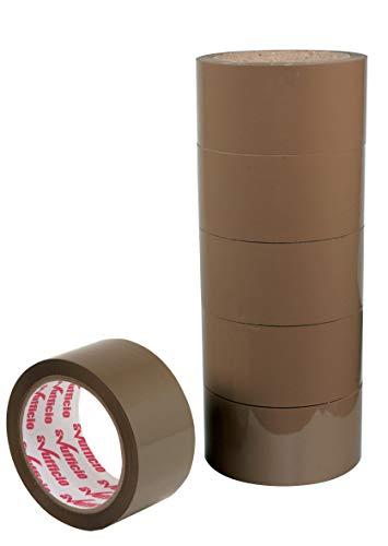 Alevar Nastro Adesivo Avana mm 50 x 66 metri Confezione da 6 pezzi