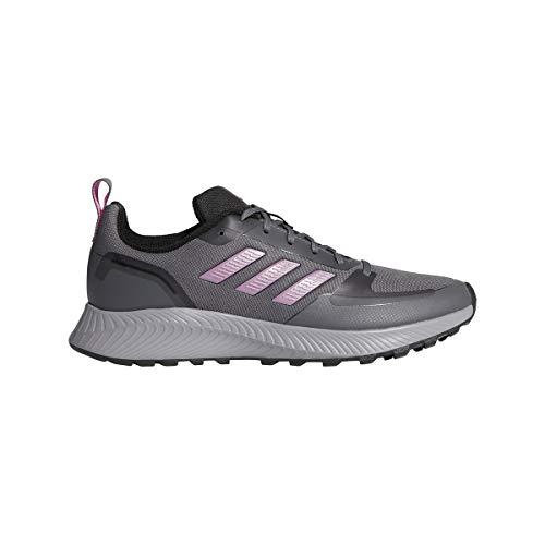 adidas Women's Stroke Running Shoe, Grey Five Cherry Met...