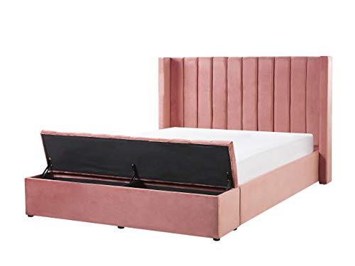 Velvet EU - Marco para cama de matrimonio (tamaño king size, 5 pies), color rosa