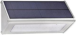 BBZZ Lampe solaire de sécurité à 48 LED avec détecteur de mouvement - Étanche - En alliage d'aluminium - Couleur : blanc c...