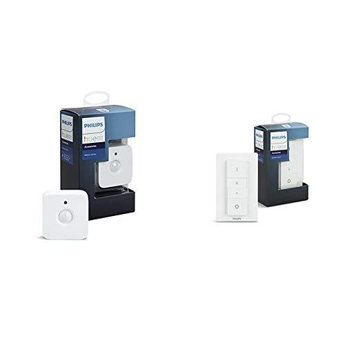 【セット買い】Philips Hueモーションセンサー  人感センサー  929001260763 & Philips Hue ディマースイッチ  ワイヤレスリモコン  929001173762