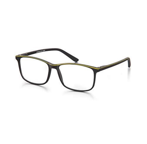 Coronation - Gafas de lectura para Mujer y Hombre - Xpression - Modernas gafas de presbicia antirreflejos de Color Negro-Amarillo - Graduación +2.00 Dioptría