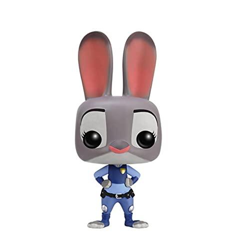 QIEW Dibujos Animados De Anime Zootopia Pop Vinilo Versión Q Muñeca Conejo Judy Personaje Modelo De Acción Juguetes 10 Cm Niños Cumpleaños
