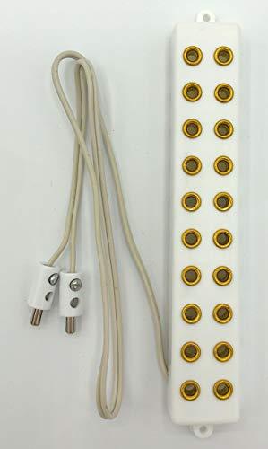 Kahlert Licht - Regleta de 10 conexiones con cable y enchufe (3,5 V), para iluminación de casas de muñecas, modelismo, nacimientos, color blanco