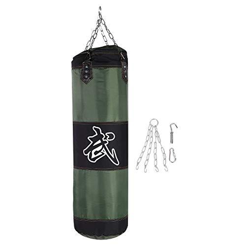 Sacco da Boxe Pesante Sacco da Boxe Pesante Sacco da Pugilato Vuoto Sacco da Allenamento di Combattimento Pugno di Karate Punzonatura Sacchetto di Sabbia (100cm-verde)