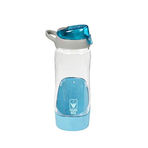 Thermo Rex Trinkflasche Sport 3 Farben 800ml | Kinder Trinkflasche aus Tritan | Trinkflasche BPA frei | Trinkflasche spülmaschinenfest (800ml, Blau)