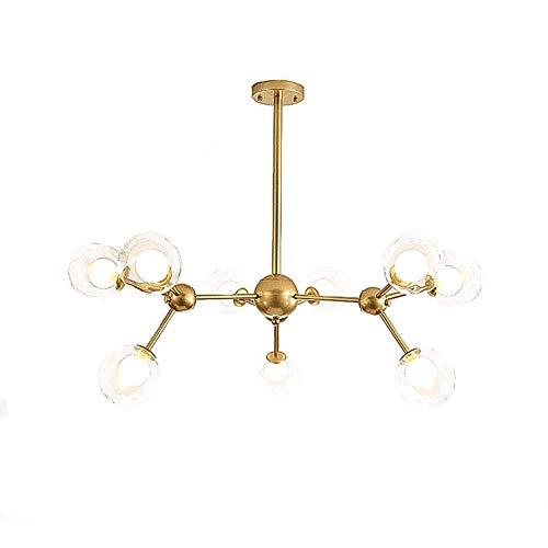 9 luces moderna lámpara de techo Sputnik lámpara de techo lámpara colgante industrial de mediados de siglo para cocina comedor sala de estar dormitorio