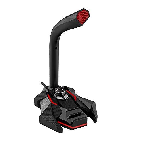 ZUEN Micrófono USB De Doble Pista De Audio Incorporado De Alta Definición De La Tarjeta De Sonido De Audio Externo Adecuado para El Hogar Juegos De Oficina