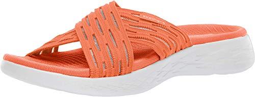 Skechers dames Go Run 600-Sunrise Open teen sandalen