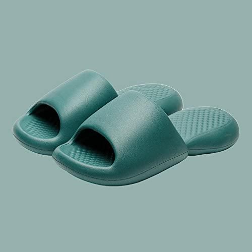 WENHUA Zapatillas de baño con tobogán de Verano para Mujer, de Fondo Grueso, Ink_40-41