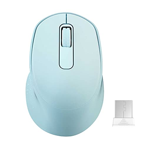 Wireless Mouse for Laptop,Silent Mouse 2.4G Computer Mouse with USB,Comfortable Laptop Mouse USB Cordless Mouse for Kids, Chromebook, MacBook,PC-Mint Green