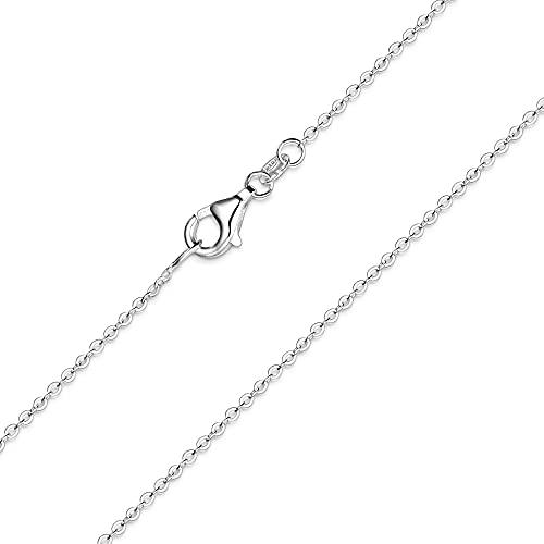 MATERIA feine Ankerkette 925 Sterling Silber - 1mm Halskette silber in 40 45 50 60 70 cm verfügbar #K30, Länge Halskette:50 cm