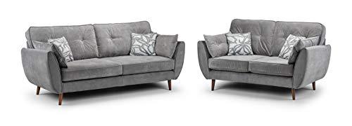 Honeypot - Sofa - Zinc - 3 Seater - 2 Seater - Grey (3 + 2 Seater)