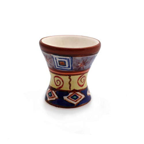 Eierbecher Set/4 Eierständer Eierhalter Keramik Bemalt Bunt Geschirr