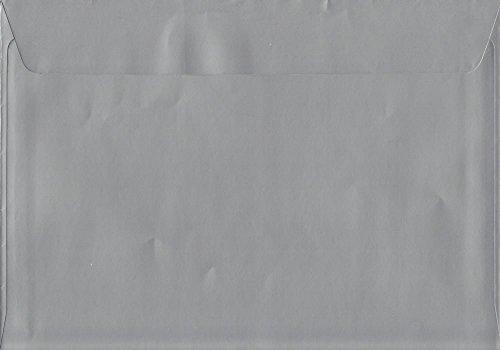 Metálico brillante plateado C4229mm x 324mm sobres con cierre adhesivo C4color 120g/m² (50unidades)
