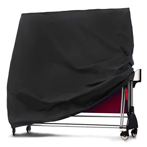 IrahdBowen Housse de Table de Tennis de Table Couverture de Protection pour Table de ping-Pong Bâche Imperméable et Anti-UV Oxford Polyester (165 x 185 x 70cm Noir) Well Made