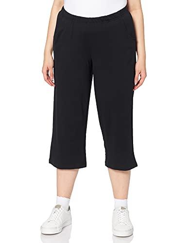 Ulla Popken 7/8- Hose, Pantalones Mujer, Negro (Schwarz 10), W54/56