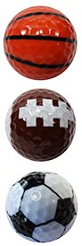 Trio Collection Novelty Golf Balls / Sports / By Paragon